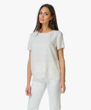 NWT $265 VINCE Laser Cut Top Blouse OFF White  [SZ Small S] #642