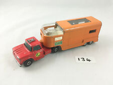 RARE VINTAGE MATCHBOX SUPERKINGS #K-18 DODGE TRACTOR HORSE TRAILER ASCOT STABLES