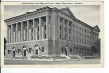 CB-053 AL, Montgomery, United States Post Office and Court House Chrome Postcard