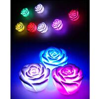 Rose LED Lampe Nachtlicht Beleuchte Bunte Farbwechsel Blumen Deko Party Kinder
