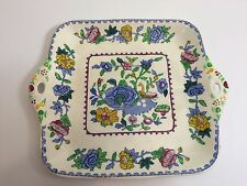 """Mason's Plantation Colonial Carl Forslund Cake Plate Tray, Made in England, 11"""""""
