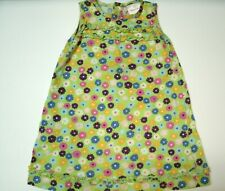 Hanna Andersson Girl's Dress Green Floral Ruffles Sleeveless 90 Size 3