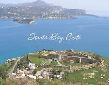 Greece - Crete - SOUDA BAY - Travel Souvenir Flexible Fridge Magnet