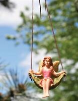"""Victorian Trading Co Hanging Resin Garden Fairy Handpainted 3"""""""