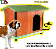 Cuccia RISCALDATA per cani. Coibentata in legno mis. 5 per cani giganti