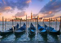 GONDOLAS VENICE ITALY NEW A2 CANVAS GICLEE ART PRINT POSTER FRAMED