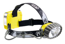 Petzl Duo LED 5 Hybrid Waterproof Headlamp E69P Black Yellow With Spare Halogen