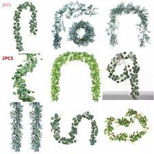 Artificial Eucalyptus Leaves Greenery Garland Vine Faux Silk Vines Leaf Wreath