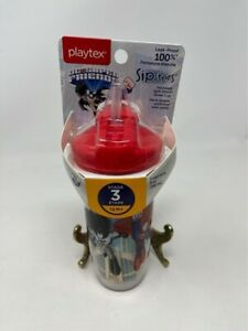 Playtex Sipsters Stage 3 Insulated Straw Cup 9 oz Superman Batman 12 M+ BPA Free