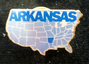 Vintage ARKANSAS Hat Pin Lapel Pin Map of United States