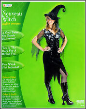 Nouveau Witch Adult Costume DressUp Novelty Play Pretend Black