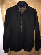 Vintage Style Pop Harrington Mod/Skinhead Black Jacket Large