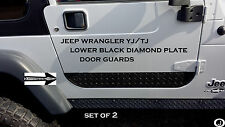 JEEP WRANGLER YJ or TJ black DIAMOND PLATE LOWER DOOR GUARDS <X> cover that rust