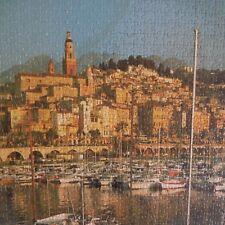 Puzzle Menton fait main handmade art déco XXe IN 1968 Mirecourt France