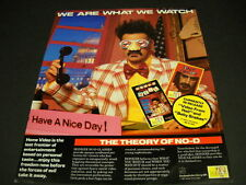 FRANK ZAPPA says WE ARE WHAT WE WATCH in NO-D 1987 PROMO POSTER AD mint cond