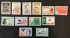 South Korea #326-332,348-352 1961-62 MH