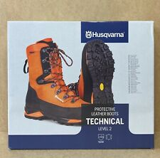 More details for husqvarna technical chainsaw leather safety boots level 2 brand new uk - 8