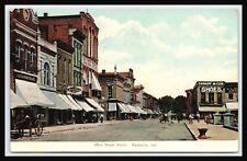 Main Street North, RUSHVILLE INDIANA RUSH COUNTY, Cassidy & Cox, Bliss Bros 1909