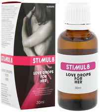 STIMUL8 LOVE DROPS for HER ORGANIC Orgasm Spanish Fly Aphrodisiac 30ml Sex Aid