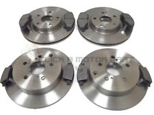 FRONT & REAR BRAKE DISCS & PADS FOR TOYOTA COROLLA VERSO 1.8 VVTI 2.0 D4D 05-09