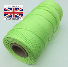 10m FLUORESCENT GREEN / YELLOW Rope Tent caravan awning Guy Line camping bright