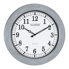 """404-1246 La Crosse Technology 18"""" Indoor/Outdoor Atomic Wall Clock - Galvanized"""