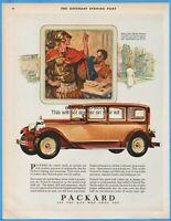 1928 Packard Motor Car Sedan Antique Automobile Gold Coin Dies Greek Art Ad