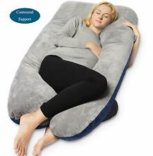 Queen Rose Pregnancy Pillow and U-Shape Full Body Pillow with Velvet Cover