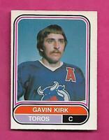 RARE 1975-76 OPC WHA # 103 TOROS GAVIN KIRK  ROOKIE NRMT CARD (INV# C4063)