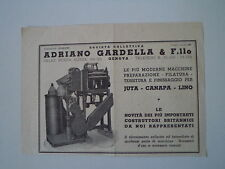 advertising Pubblicità 1946 SOCIETA' ADRIANO GARDELLA - GENOVA