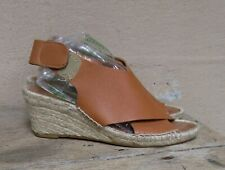 Maypol Brown Leather Wedge Espadrilles   Spain    Size 38 / 7