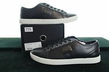 BNWB DOLCE & GABBANA LUXE BLACK TRAINER LEATHER CLASSIC SNEAKER SIZE UK8 / EU42