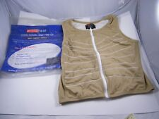 ARCTIC HEAT ~ COOL DOWN & FIRE UP VEST ~ LARGE ~ TAN AND WHITE COLOR ~ LIGHT USE