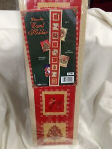 """42"""" Christmas Card Holder """"Pointsetta"""" Card Display Noel Holds Up To 30 NEW ch27"""