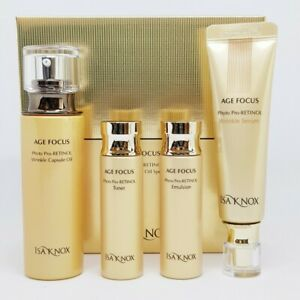 Isa Knox Age Focus Phyto Pro-Retinol Wrinkle Capsule Oil Special Set K-Beauty