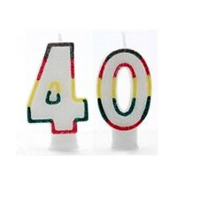 Age 10 - Happy 10th Birthday Party Banners Balloons Decorations Rainbow Number Candle