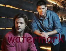 Supernatural Tv Series Cast Characters Sam & Dean Wooden Wall Publicity Photo
