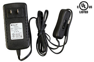 UL Listed 12v 2A 24W LED LIGHT AC POWER ADAPTER + on/off switch For LED Light