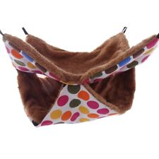 Rat Ferret Squirrel Pouch Nest Bed Toy Pet House Hammock Quilted for Chinchilla