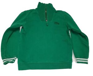 Lacoste Boys 1/4 Zip Up Sweat Shirt 7 Green