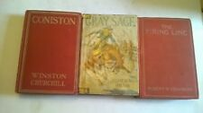 VINTAGE Lot GROSSET & DUNLAP  Gray Sage Coniston The Firing Line 1908, 1911,1938