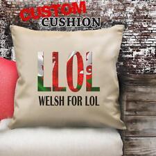 Personnalisé llol Welsh LOL Vintage Coussin Personnalisé Toile Housse Cadeau NC251