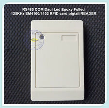 RS485 COM Daul Led Epoxy Fulled 125KHz EM4100/4102 RFID card pigtail READER