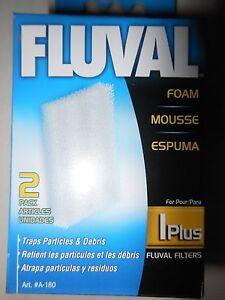 Fluval 1 Plus 2 pack Foam Pad A-180