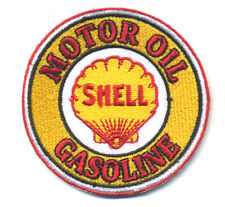shell motor oil patch badge hot rod drag race gasoline station americana