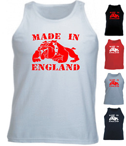 MADE IN ENGLAND BULLDOG Athletic Vest Top