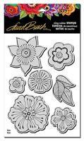 Cling Flower Blossoms Rubber Stamp & Stencil by Stampendous LBCRS05 NEW!