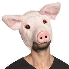 Pig Mask Fancy Dress Costume Animal Plush Face Maske Stag Night Farm Plays NEW