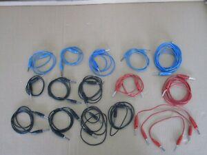 17 Stück Laborkabel Messleitung 4mm, rot, schwarz, blau, verschiedene Längen