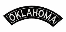 OKLAHOMA TOP MINI ROCKER EMBROIDERED MOTORCYCLE PATCH